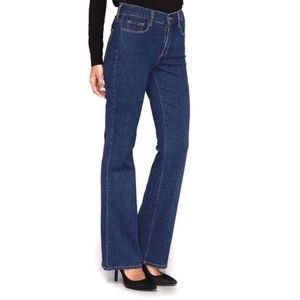 NYDJ 8 Long Sarah Classic Bootcut Denim Jeans